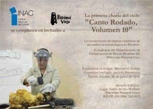Canto Rodado Volumen 10. La conservación de objetos metálicos de procedencia arqueológica en Panamá. @ Salón de Uso Múltiple. Patronato Panamá Viejo